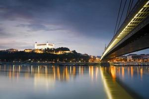 Bratislava castle and river Danube. photo