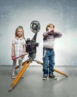 Children in a cinema photo