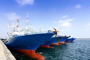 Docked ships photo