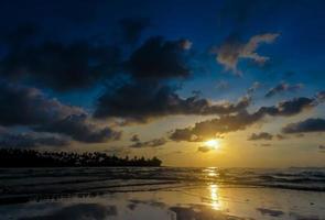 Sunset silhouette at Beach of Koh Kood photo