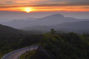 Doi Inthanon National Park, Chiang Mai in the early morning.