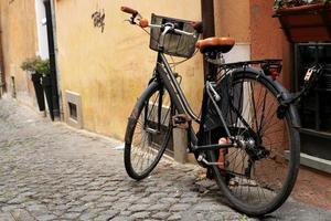 Black classic bicycle photo
