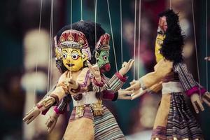 Masks, dolls and souvenirs in street shop at Durbar Square
