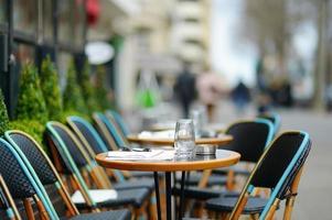 Cozy outdoor cafe photo
