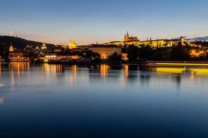 Historic center of Prague, ancient architecture at night