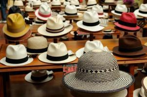 ecuador, sombreros panamá foto