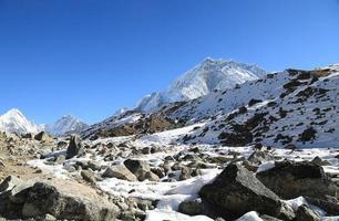 mehra peak summit beside of everest photo
