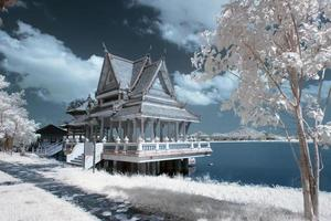 Places Of Worship in near infrared ,Thailand.