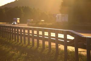 sundown on german highway