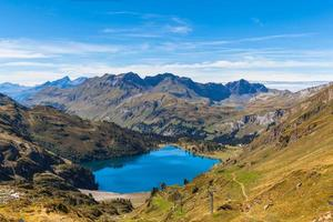 Stunning view of Engstlensee lake and the Alps