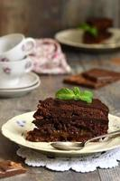 Chocolate cake ''Sacher''. photo