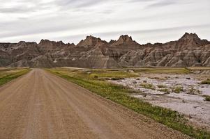 estrada rural de badlands