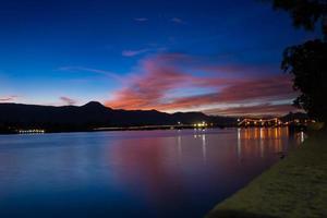 Kampot - French Bridge and Sunset photo