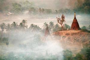 Mrauk U in the mist photo
