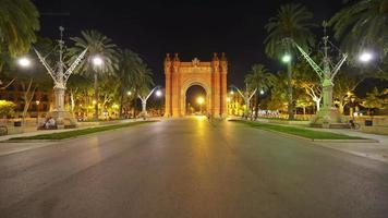Arch of Triumph in Barcelona, Spain video