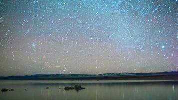 Time lapse - galaxie de la Voie Lactée sur Mono Lake Tufa, Californie