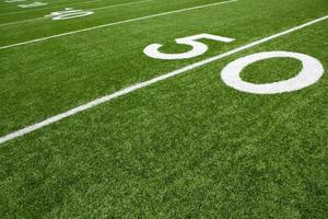 American Football Field Fifty Yard Line photo