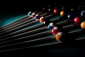 composición de bolas de billar