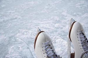 patins de gelo ao ar livre