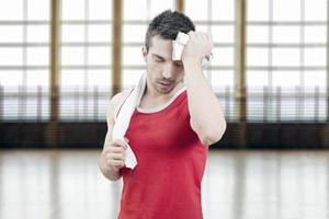 Man sweating photo