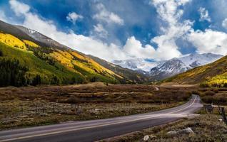 Colorful fall scenic drive near Aspen, Colorado