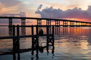 Sunset At Cetennial Park Fort Myers River District Florida photo