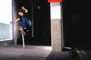 skateboarder - pole ride photo