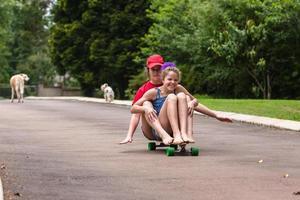 Girls Skateboarding photo