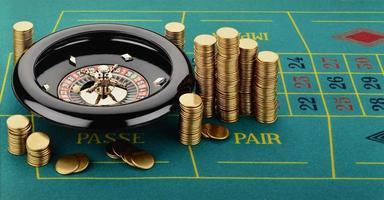 ruleta con fichas de casino (fichas) foto