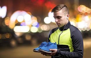 Jogging at night photo