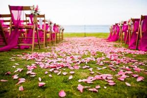 cerimônia de casamento de destino