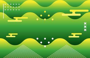 Futuristic Green Wave Background vector