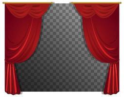 cortinas rojas con varilla con fondo transparente