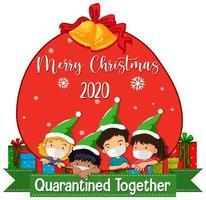 diseño de banner de pandemia de navidad