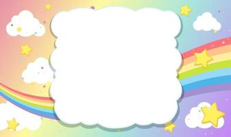 Blank banner with rainbow sky theme vector