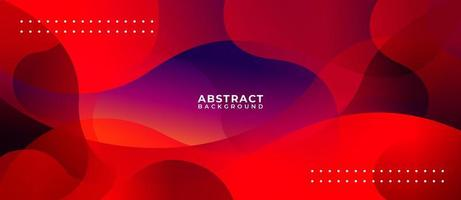 Red Geometric Wave Multicolor Abstract Background vector