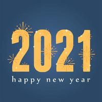 Happy New Year 2021 lettering banner