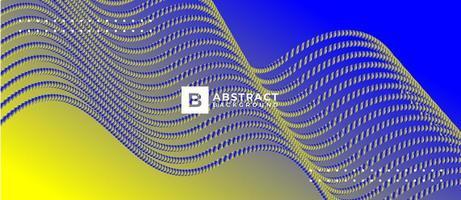 Fondo de puntos de flujo digital abstracto vector