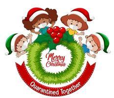 Navidad celebrando durante la cuarentena del covid