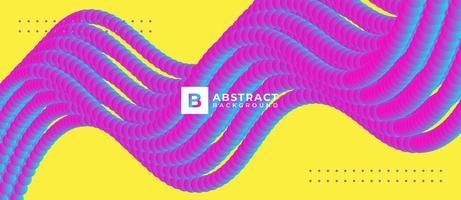 Fondo multicolor de flujo de puntos digitales abstractos vector