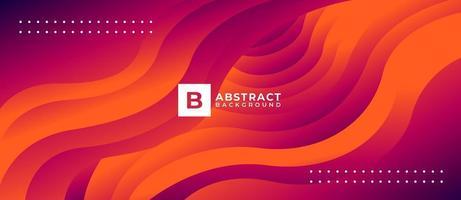 fondo abstracto de línea de flujo de forma geométrica roja vector