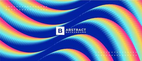 Multicolor Blue Blend Liquid Fluid Gradient Background vector