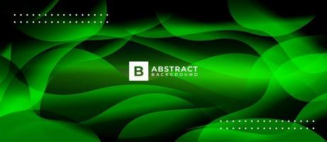 Green Shape Wave Abstract Light Geometric Background vector