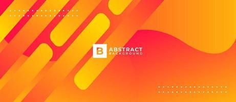 Orange Geometric Shape Abstract Background vector
