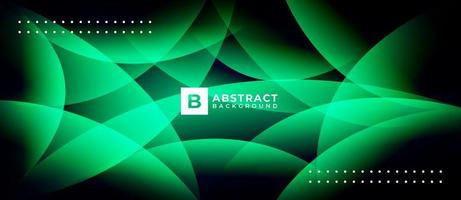 Light Green Abstract Wave Multicolor Shape Background vector