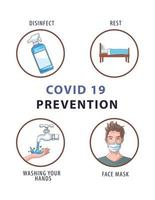 Covid19 prevention methods poster infographic