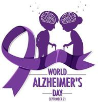 World Alzheimer's Day banner vector