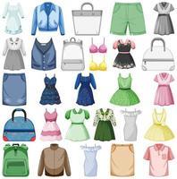 conjunto de trajes de moda vector