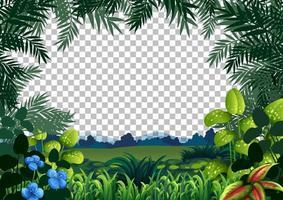 paisaje de la escena de la naturaleza en blanco vector