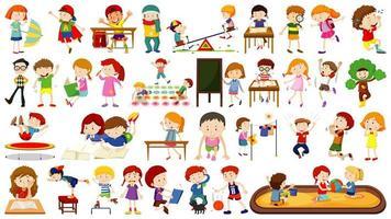 conjunto de niños